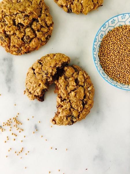 Crunchy Oatmeal Mustard Cookies