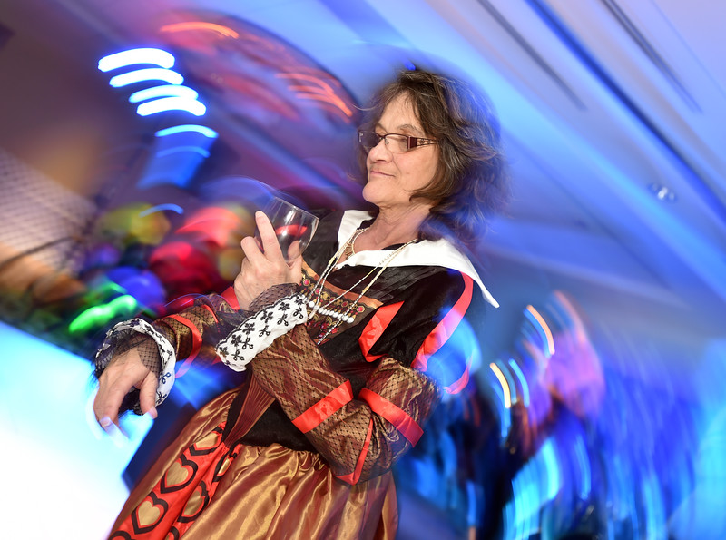 "Louise Fox dressed as the Queen of Hearts  dances during the annual Bal Swan Ball, Saturday, at the Omni Interlocken Resort Hotel.<br /> More photos:  <a href=""http://www.BoCoPreps.com"">http://www.BoCoPreps.com</a><br /> David R. Jennings/Staff Photographer<br /> March 5, 2016"