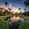 Lily Pad Pond Sunset - Balboa Park Landscape Photography