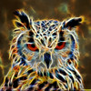 Eagle owl, ( done in photoshop with fractalius software.)