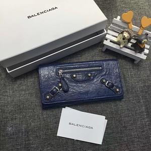 blue balenciaga city wallet