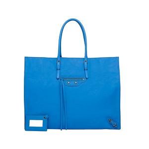 Balenciaga light blue A4 15 6''  x  12 1''  x  6 2''
