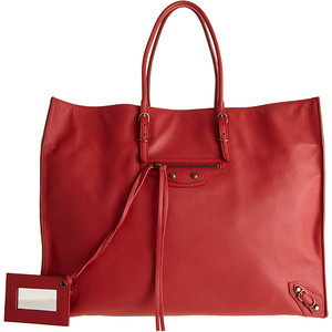 Balenciaga red A4 15 6''  x  12 1''  x  6 2''