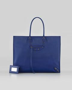 Balenciaga blue A4 15 6''  x  12 1''  x  6 2''