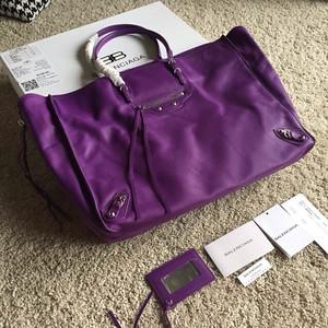 Balenciaga B- papier 40cm purple