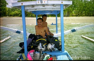 Balinese Dive Master and boat pilot, Menjangan, Bali