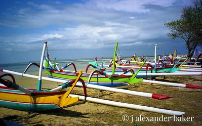 Balinese Outriggers, Sanur Beach
