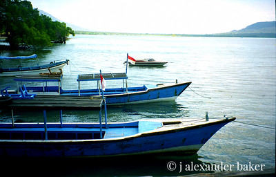 Balinese Dive Boats at Menjangan
