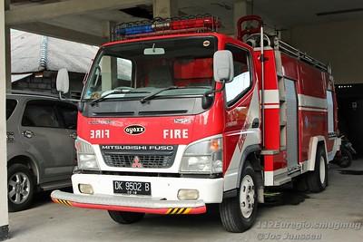 Brandweervoertuigen op Bali