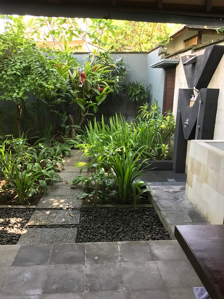 Outdoor shower garden