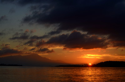 Sunset from Gili Asahan, Lombok