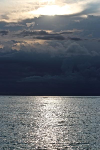 Orage sur l'Océan Indien