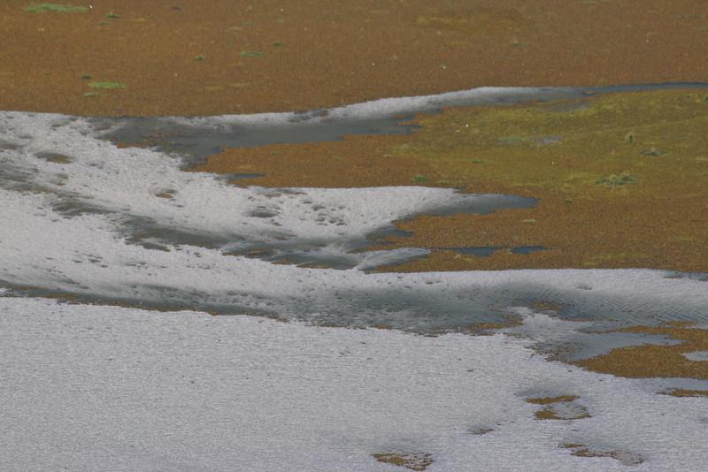 Entre sable et eau, lac volcanique Bratan