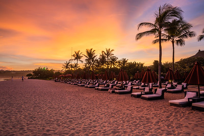 The St Regis Bali Resort Private Beach at Nusa Dua.