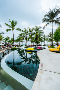 The terrace pools at W Bali.