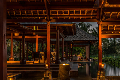 The lobby at Mandapa - a Ritz-Carlton Reserve.