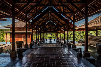 Welcome lobby at Mandapa - a Ritz-Carlton Reserve.