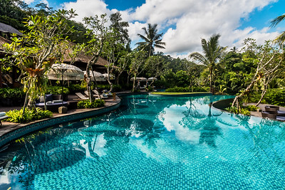 The pool at Mandapa Reserve.