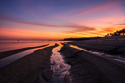 Sunset at Nusa Dua Bali.