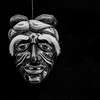 Balinese Face Mask (Black & White)