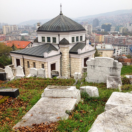 Jevreskeho Groblje, Sarajevo. The 2nd largest Jewish cemetery in Europe, behind the one in Prague. Sarajevo city skyline west in the background. via Instagram http://ift.tt/1G65NsK