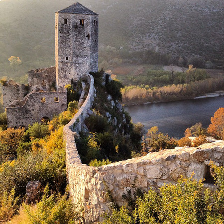 """Of course, there be castles in Bosnia and Herzegovina. This one: the Citadel of Počitelj. If you are having trouble wrapping your tongue around how to pronounce that, consider that it was built in 1383 by King Tvrtko, whose dying words were purported to be, """"Can I buy a vowel?"""" via Instagram http://ift.tt/1uqDPoA"""