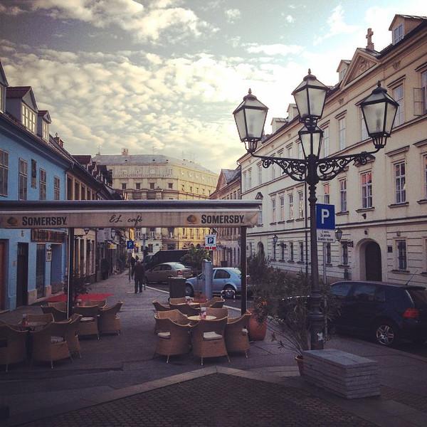 Early Morning in Zagreb, Croatia.