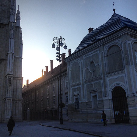 Morning blues. Light breaks down the lane at the Zagreb Cathedral. #Croatia via Instagram http://ift.tt/1wIzEmU