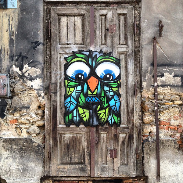 Favorite doorway candidate, #35. Someone's idea of renovation, Old Town Zagreb (Croatia). via Instagram http://instagram.com/p/uyNauQuWX8/