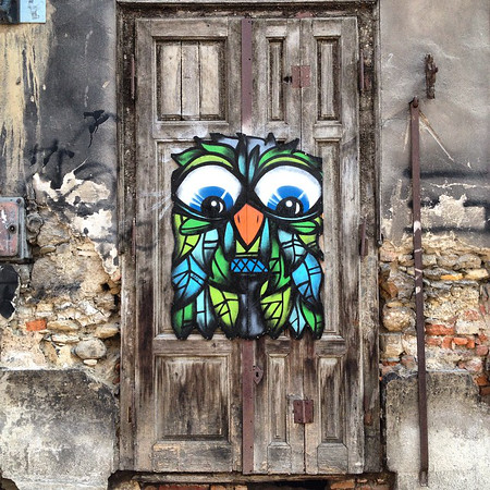 Favorite doorway candidate, #35. Someone's idea of renovation, Old Town Zagreb (Croatia). via Instagram http://instagram.com/p/uyNauQuWX8/