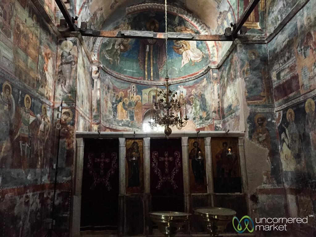 Inside Patriarchate of Peć - Peja, Kosovo