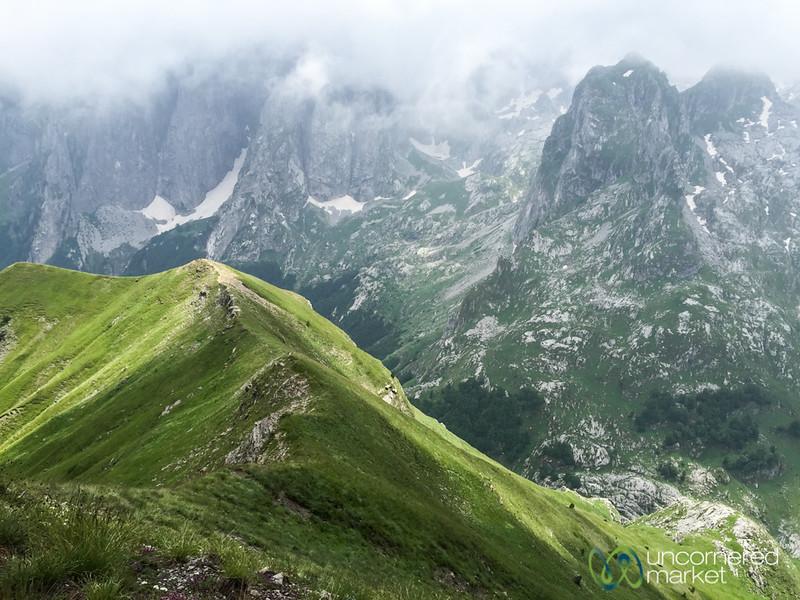 View of Karanfil Mountains from Mt. Taljanka - Albania
