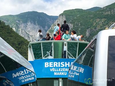 Taking the Ferry Across Lake Koman - Albania