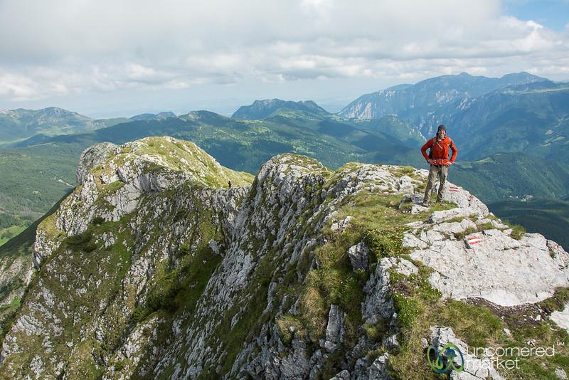 Dan at the Top of Mt. Hajla - Kosovo