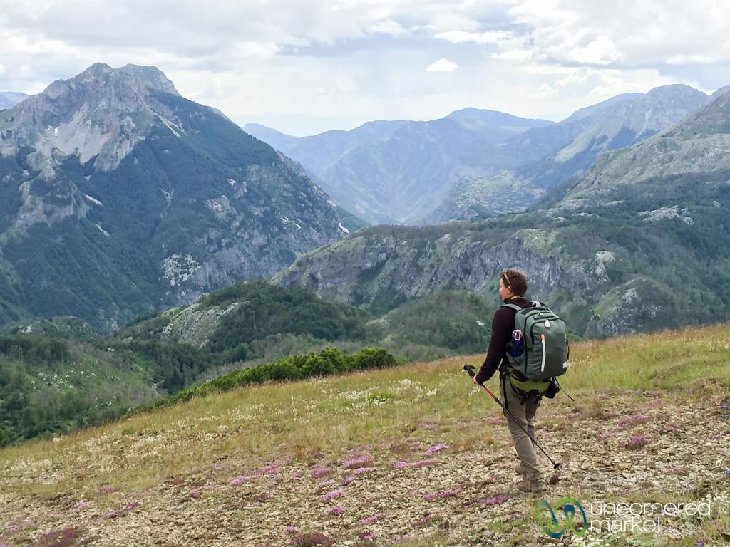 Audrey Enjoys Views from Mt. Grebenit, Albania