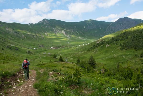 Walking Towards the Shepherd Huts of Doberdol, Albania