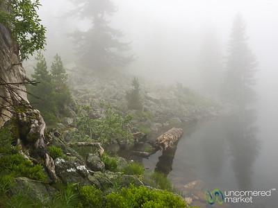 Lake Hrid (Hridsko Jezero) in Foggy Mist, Montenegro - Peaks of the Balkans