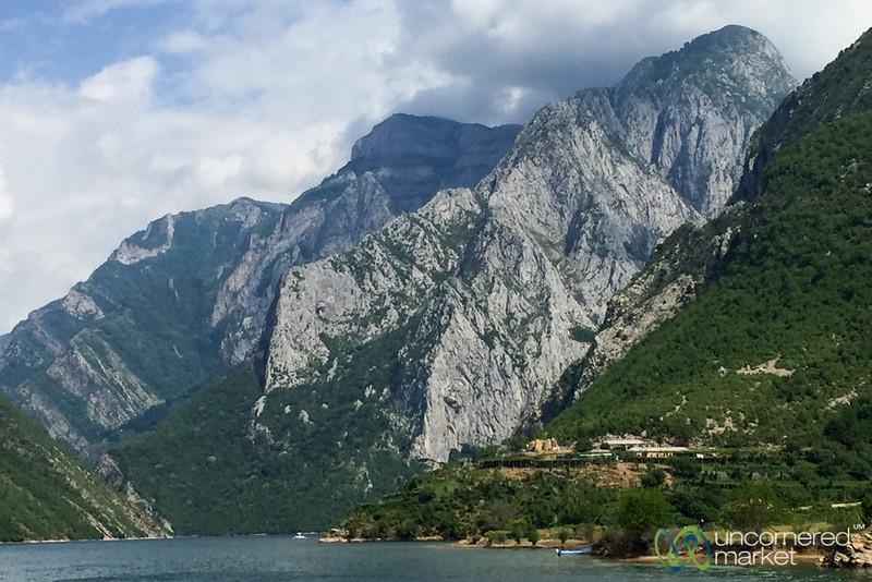 Lake Koman Ferry Ride Views - Albania