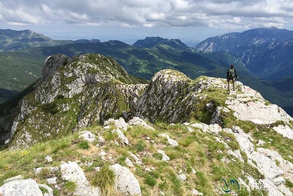 Audrey on Ridge of Mt. Hajla, Kosovo