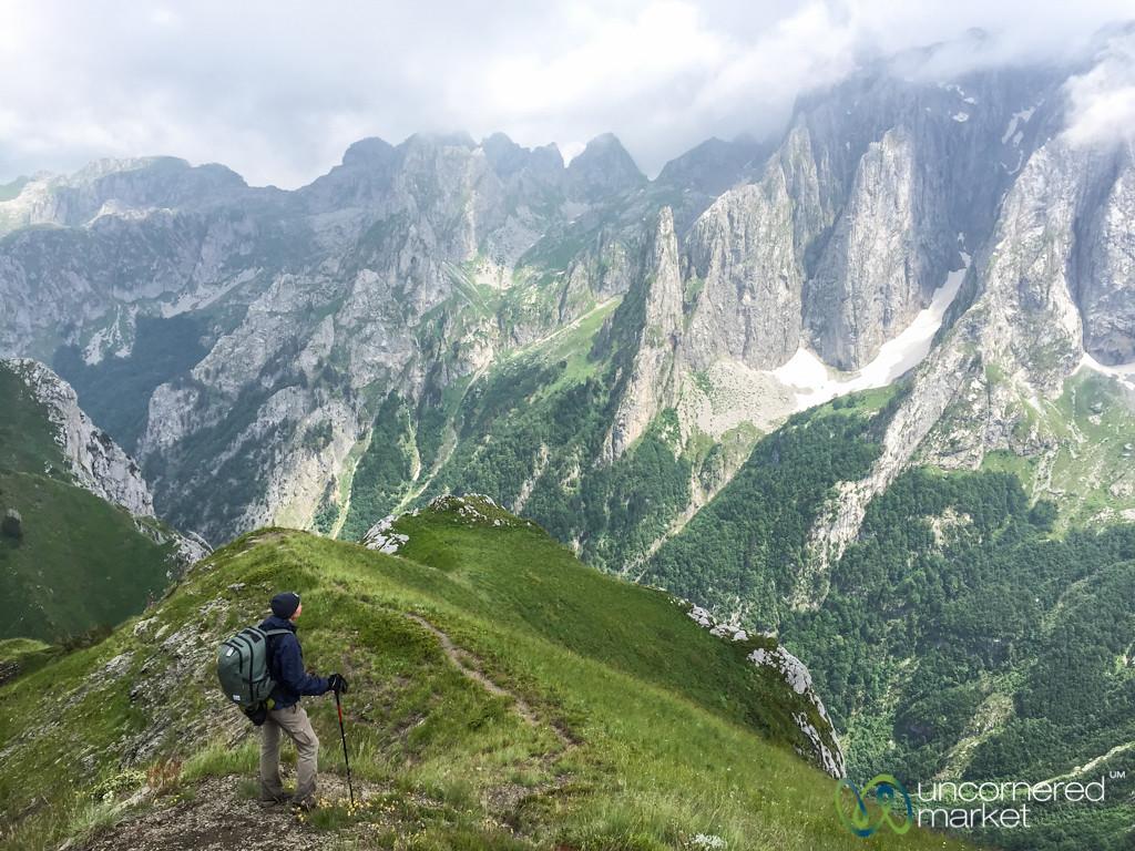 Audrey Looks Out Over Karanfil Mountains - Albania