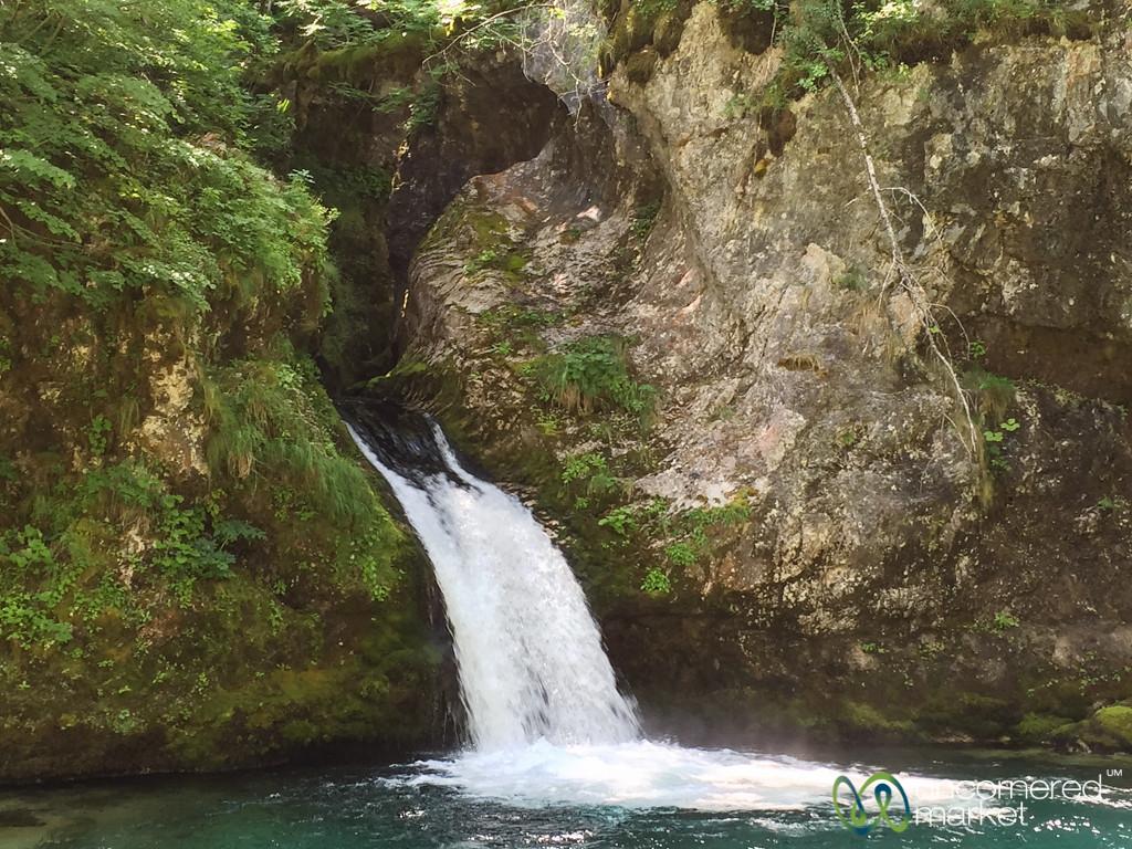 Blue Hole Waterfall Near Nderlysa, Albania