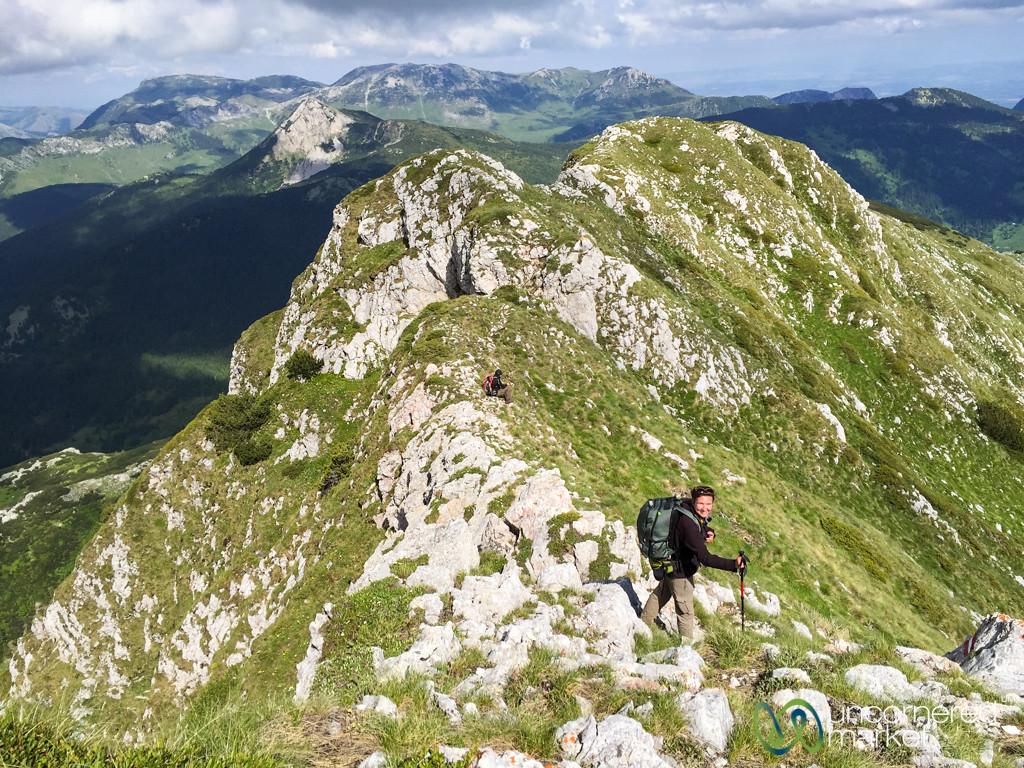 Audrey at the Top of Mt. Hajla, Kosovo