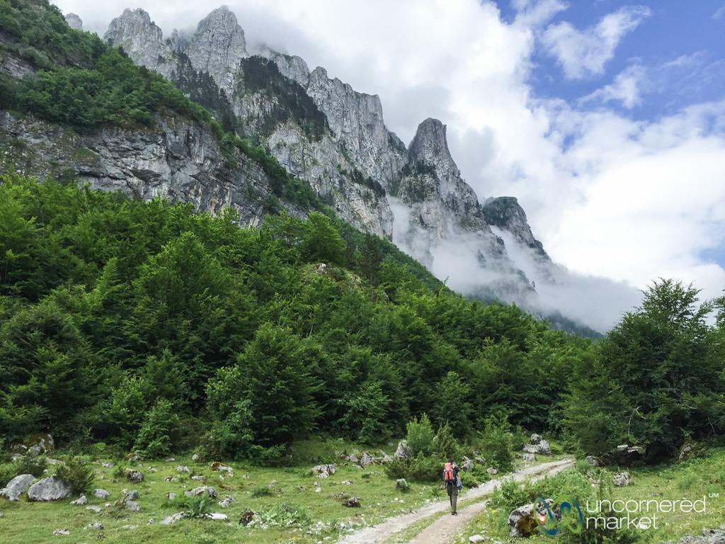Trekking from Vusanje to Theth on Peaks of the Balkans Trail
