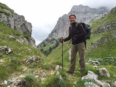 Audrey in the Albanian Alps - Valbona to Cerem, Albania