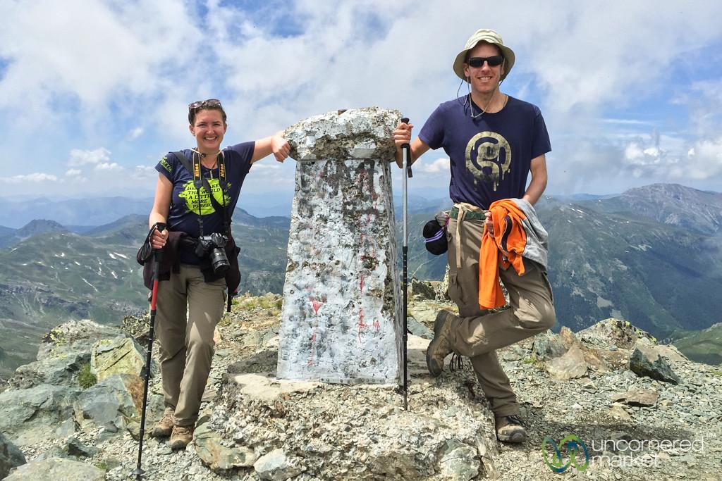 Dan and Audrey at top of Mt. Gjeravica - Kosovo