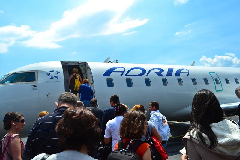 Arrival in Sarajevo