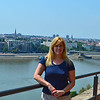 At the Fortress with the Danube in the background