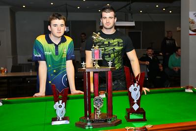 Matt Curwood (2014 runner-up)  with Ricky Emey (2014 champion)