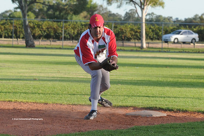 Jason Trew (Lyrup) on 1st base