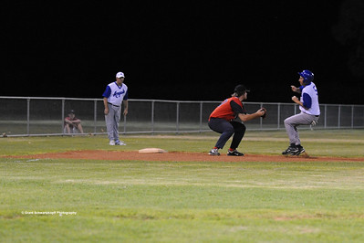 Nick Carrol (Renmark) tagged out at 3rd base by Andrew Law (Berri)